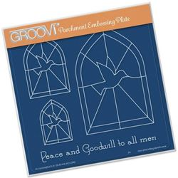 Picture of Christmas Dove Window Groovi A5 Plate