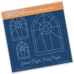 Picture of Christmas Candle Window Groovi A5 Plate