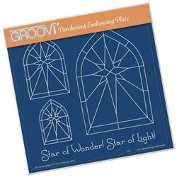 Picture of Christmas Star Window Groovi A5 Plate